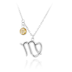 JVD Stříbrný náhrdelník s přívěskem Panna SVLN0135X6100PA