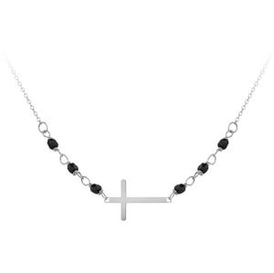 JVD Stříbrný náramek s černými onyxy SVLB0171XH2ON17