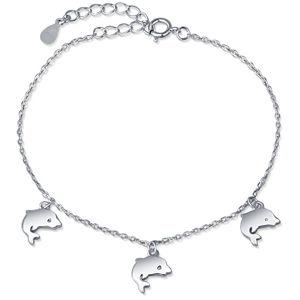 JVD Stříbrný náramek s přívěsky delfínů SVLB0394SH2DE16