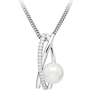 JVD Stříbrný přívěsek s pravou říční perlou SVLP0345SH8P100