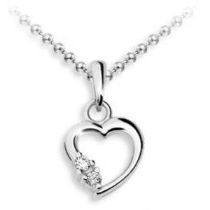 JVD Stříbrný přívěsek Srdce SVLP0572XH2BI00