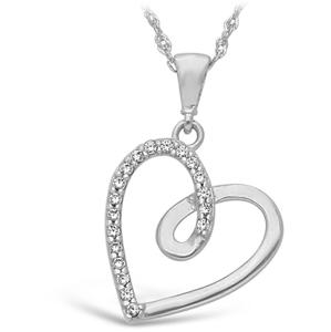 JVD Stříbrný přívěsek Srdce SVLP0588XH2BI00
