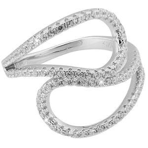 JVD Stříbrný prsten s krystaly SVLML11510F7 52 mm