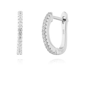 JVD Třpytivé stříbrné náušnice SVLE0556XF3BI00