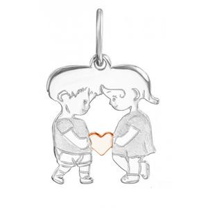 JVD Zamilovaný bicolor přívěsek Chlapec a dívka SVLP0591XH2BK00
