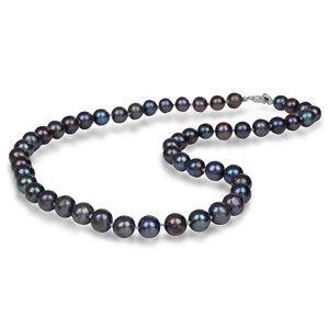JwL Luxury Pearls Náhrdelník s pravými kovově modrými perlami JL0265