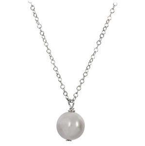 JwL Luxury Pearls Pravá perla šedé barvy na stříbrném řetízku JL0089 (řetízek, přívěsek)