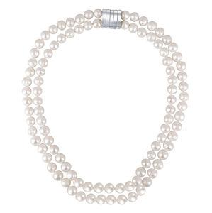JwL Luxury Pearls Dvojitý náhrdelník z pravých bílých perel JL0656