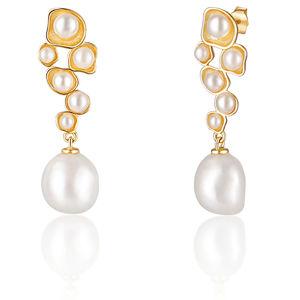 JwL Luxury Pearls Pozlacené perlové náušnice JL0655