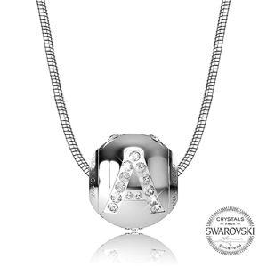 Levien Ocelový náhrdelník písmeno A CLET-A