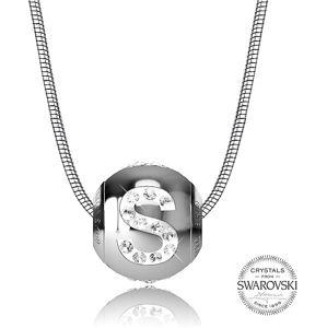 Levien Ocelový náhrdelník písmeno S CLET-S