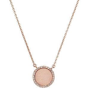 Michael Kors Bronzový náhrdelník se zdobeným přívěskem MKJ4330791