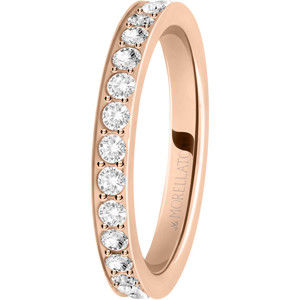 Morellato Bronzový prsten s krystaly Love Rings SNA40 56 mm
