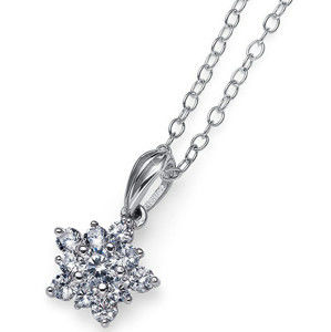 Oliver Weber Hvězdičkový stříbrný náhrdelník Subtle 61137R (řetízek, přívěsek)