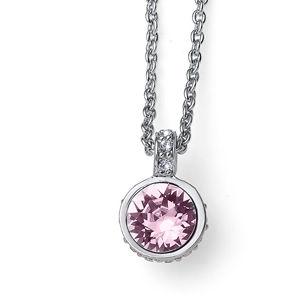 Oliver Weber Krásný náhrdelník s krystaly Swarovski Double 12007 212