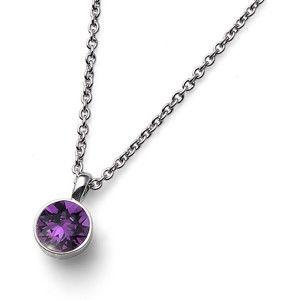 Oliver Weber Náhrdelník s fialovým krystalem Ocean Uno 11740 204