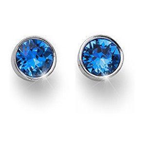 Oliver Weber Náušnice pecky s modrými krystaly Ocean Uno 22623 206