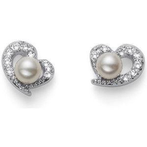 Oliver Weber Něžné náušnice s perličkami a krystaly Pearl Love 22582