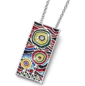 Oliver Weber Pestrobarevný náhrdelník Ocean Art Two 11713