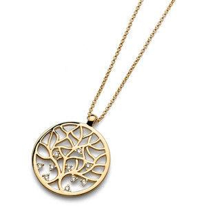 Oliver Weber Pozlacený náhrdelník Working Life 11671G