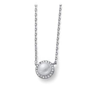 Oliver Weber Stříbrný náhrdelník Last Pearl 61162