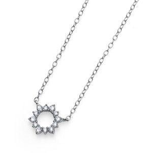 Oliver Weber Stříbrný náhrdelník s krystaly Sunly 61143