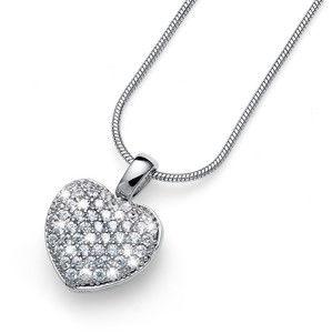 Oliver Weber Stříbrný náhrdelník s krystaly True Love 61147 (řetízek, přívěsek)