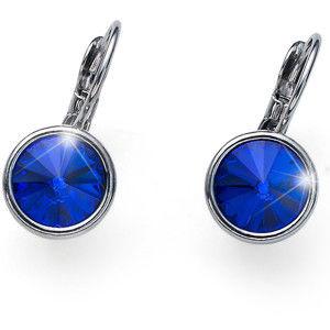 Oliver Weber Stylové náušnice s modrými krystaly Young 22729 296