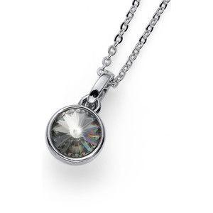 Oliver Weber Stylový náhrdelník s třpytivým krystalem Young 11924 215