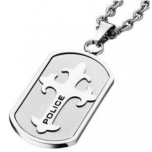 Police Ocelový náhrdelník s křížkem Gatekeeper PJ25570PSS/01