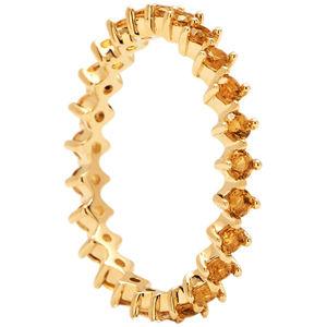PDPAOLA Něžný pozlacený prsten se zirkony YELLOW BIRD Gold AN01-134 56 mm
