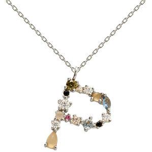"""PD PAOLA Stříbrný náhrdelník písmeno """"P"""" se zirkony CO02-111-U (řetízek, přívěsek)"""