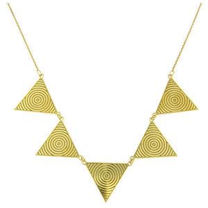 Praqia Pozlacený náhrdelník s masivní ozdobou N6243