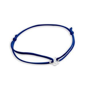 Praqia Šňůrkový modrý kabala náramek Tlapička KA6178