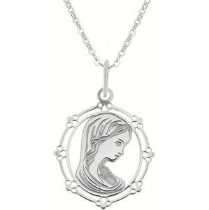 Praqia Stříbrný náhrdelník Pokora KO0863_BR030_43-7_RH (řetízek, přívěsek)