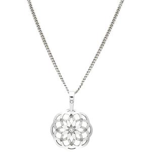 Praqia Stylový stříbrný náhrdelník Heartbeat KO1415_CU035_49_RH  (řetízek, přívěsek) - SLEVA