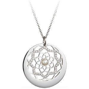 Preciosa Náhrdelník s krystaly a perličkou Flower of Love 7286 01