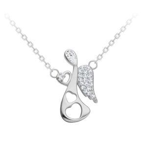 Preciosa Něžný stříbrný náhrdelník Angelic Touch 5294 00