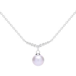 Preciosa Něžný stříbrný náhrdelník s pravou perlou Samoa 5308 00