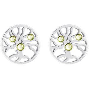 Preciosa Ocelové náušnice s krystaly Olive 7298 53