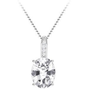 Preciosa Třpytivý stříbrný náhrdelník Tasmania s kubickou zirkonií Preciosa 5322 00 (řetízek, přívěsek)