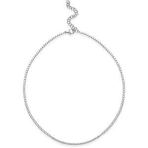 Rosato Elegantní stříbrný náhrdelník se zirkony Cubica RZC038