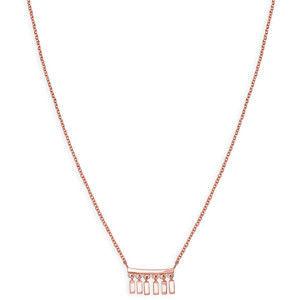 Rosefield Růžově pozlacený ocelový náhrdelník Iggy JMDNR-J052