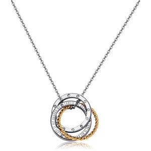 S`Agapõ Bicolor náhrdelník s propojenými kruhy Trinidad STR20