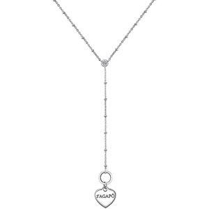 S`Agapõ Výrazný srdíčkový náhrdelník Happy SHAC19