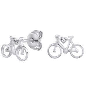 Silvego Stříbrné náušnice cyklistické kolo MW14247