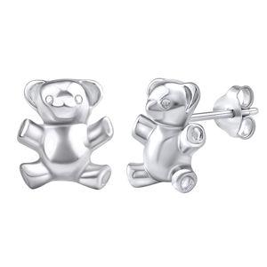 Silvego Stříbrné náušnice medvídci PRM11269