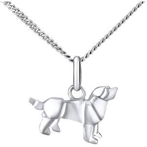 Silvego Stříbrný náhrdelník Pes ZTL73503NVSW (Řetízek, přívěsek)