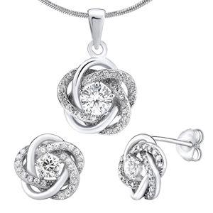 Silvego Stříbrný set šperků se zirkony Rosalyn JJJS0088 (náušnice, přívěsek)