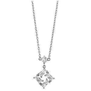 Silver Cat Čtvercový stříbrný náhrdelník se zirkony SC334